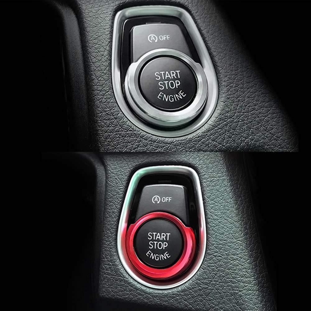 Cadre en Anneau du Bouton de d/émarrage//arr/êt Bouton de d/émarrage Automatique du Moteur Remplacer Le Couvercle d/écoration de commutateur daccessoires pour BMW F31