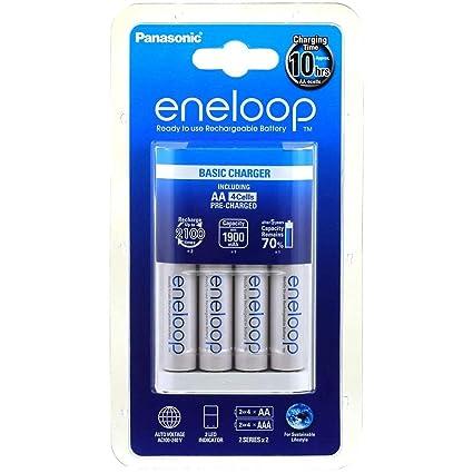 Cargador Panasonic eneloop BQ-CC18 incl. 4x Pilas Panasonic ...