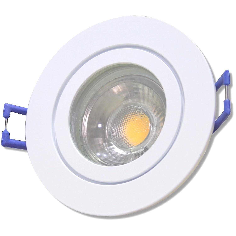9 Stück IP44 MCOB LED Bad Einbauleuchte Neptun 12 Volt 3 Watt Rund Weiß Neutralweiß