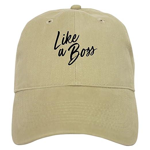 5721c4ea CafePress - Like A Boss - Baseball Cap with Adjustable Closure, Unique  Printed Baseball Hat
