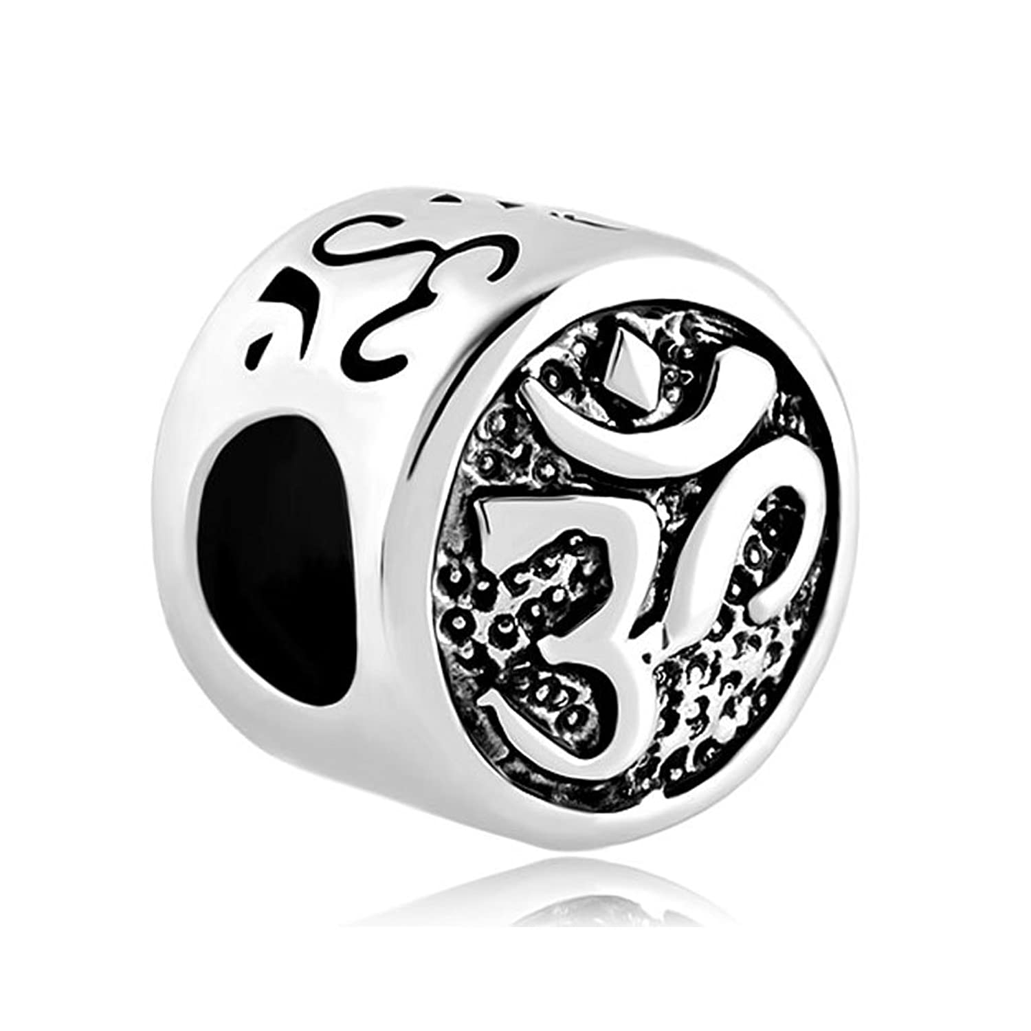 Uniqueen jewelry womens om symbol aum love yoga bead fits charms uniqueen jewelry womens om symbol aum love yoga bead fits charms bracelet amazon jewellery buycottarizona Image collections
