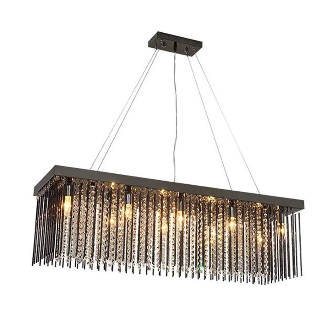 Office Ceiling Lights Square Chandeliers LED Crystal Ceiling Light Rectangle Dining Room Crystal Home Study Living Room Lighting (10025100cm, 8025100cm, 8030100cm) Energy Level A+++ by Xk-Ceiling Lights