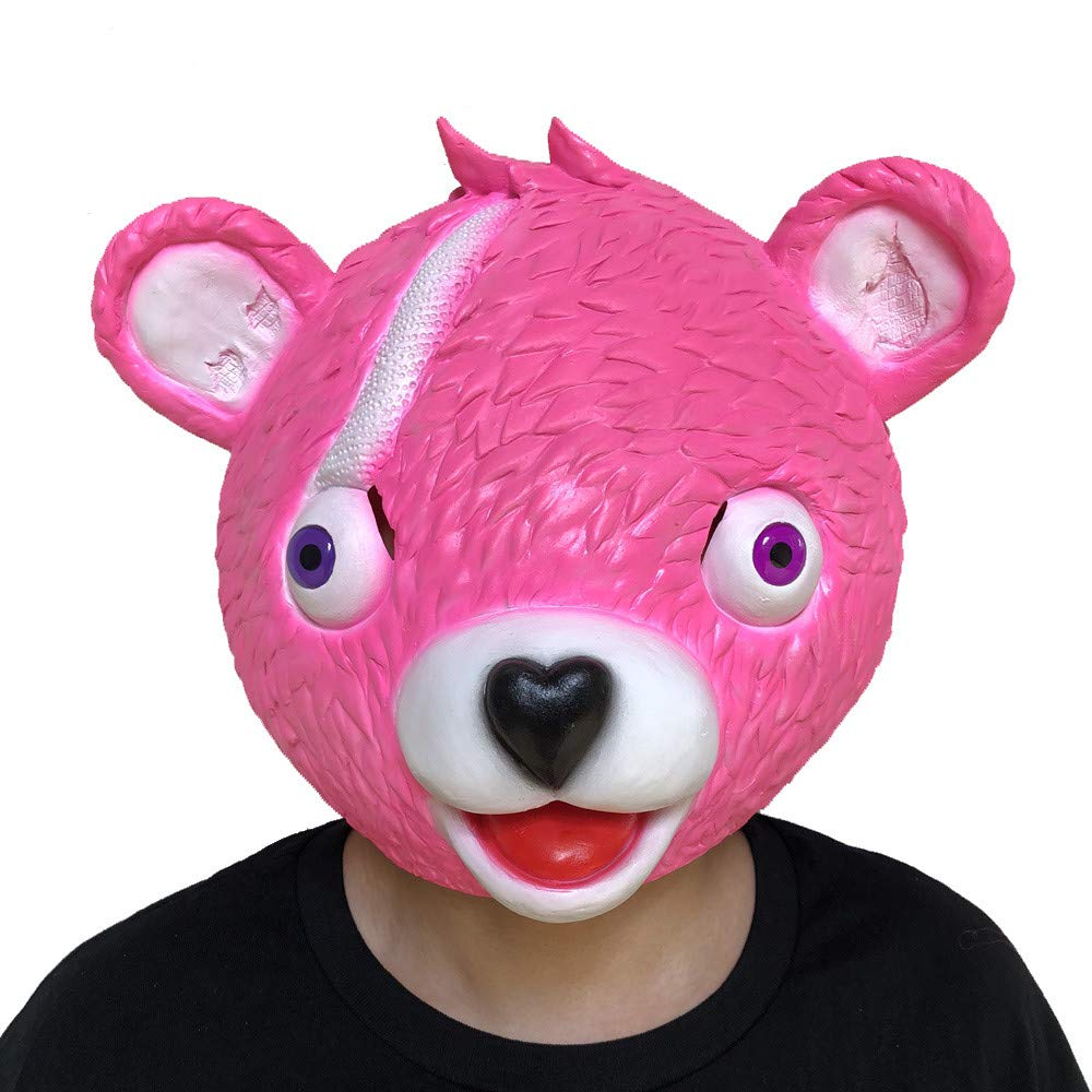 Amazon.com: Theshy Cuddle Team Leader Bear Game Mask Melting Face Adult Latex Costume Cosplay Toy Toys and Hobbies: Toys & Games