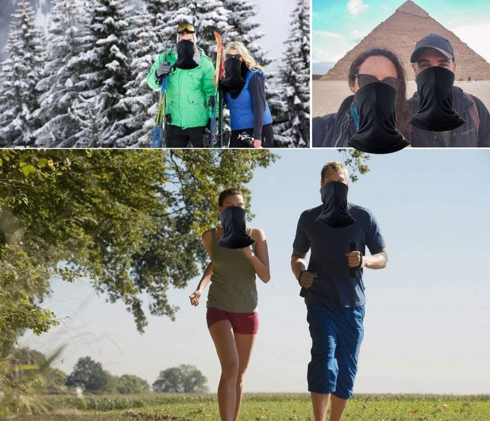 TwoYek Unisex Neck Gaiter Seamless Face Cover Magic Scarf Sun Protection Dust Sand Wind Proof Lightweight Headwear Fishing Hiking Running Cycling
