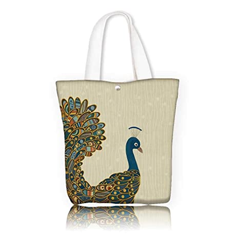 da9691c14f1b Amazon.com: Ladies canvas tote bag —W17.7 x H14 x D7 INCH/Casual Top ...