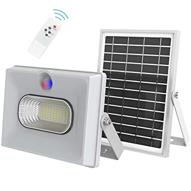 Bestqool Solar Flood Lights 50w 2000lm Outdoor Security Solar Lights Dusk to Dawn with Motion Sensor and Remote for Garden Driveway Yard Upgraded