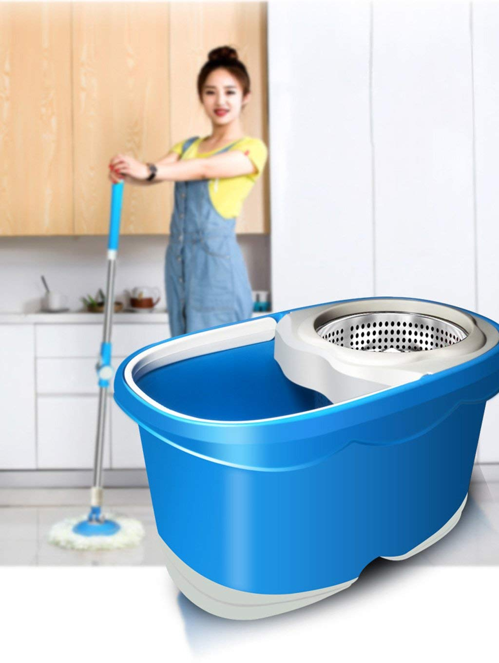 Desti Flakes Rotate The Mop Bucket Without Hand Washing (Color : Blue) by Desti Flakes (Image #2)