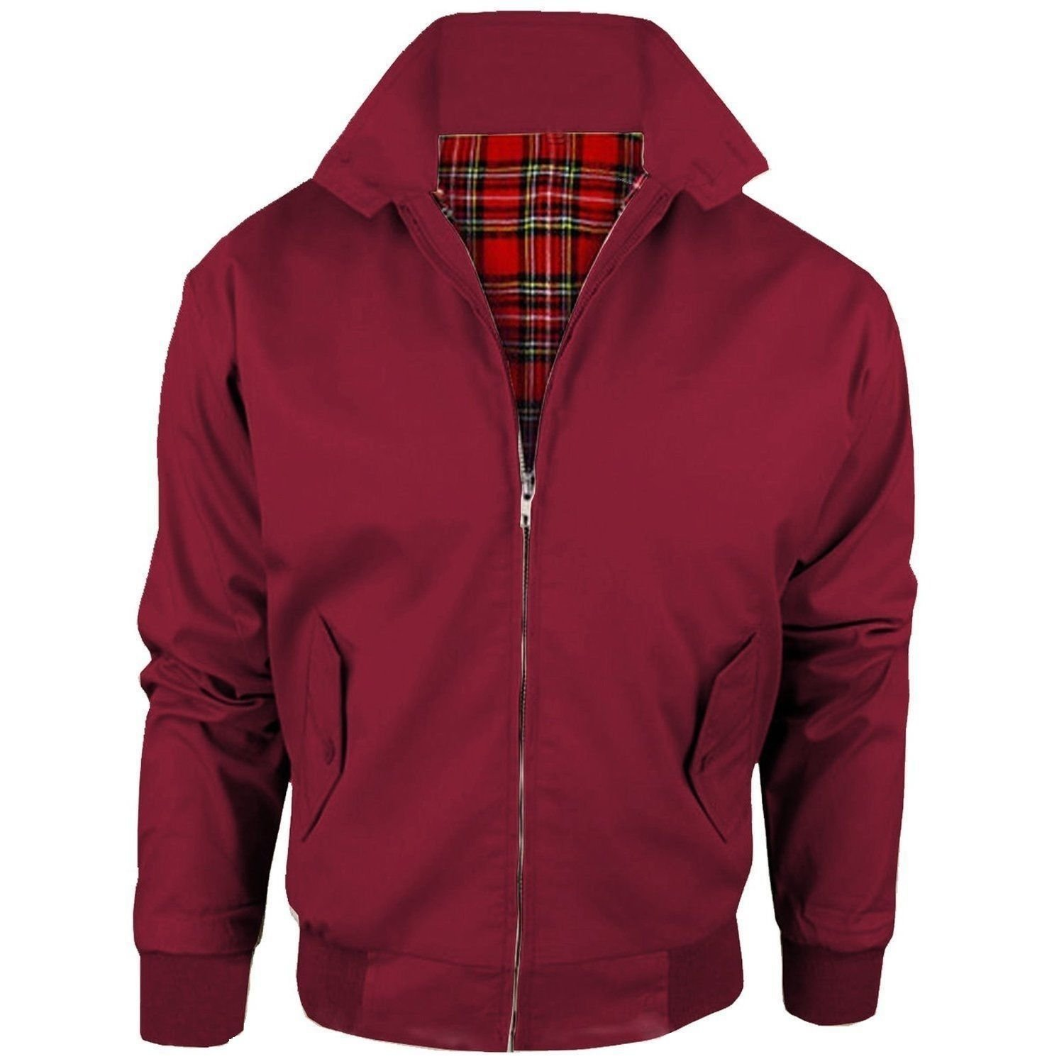 Malaika® Harrington Jacket Men's Classic Vintage Retro Scooter 1970'S Bomber Trendy Coat X-Small to XXXXX-Large Available in PLUS SIZES (Extra Small to 5XL)