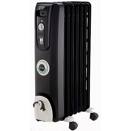 DeLonghi ew7707cb Seguro Calor 1500 W comfortemp Radiador de Aceite Portátil – Negro