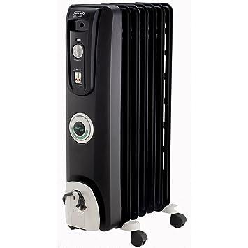 Wonderful DeLonghi EW7707CB Safe Heat 1500W ComforTemp Portable Oil Filled Radiator    Black