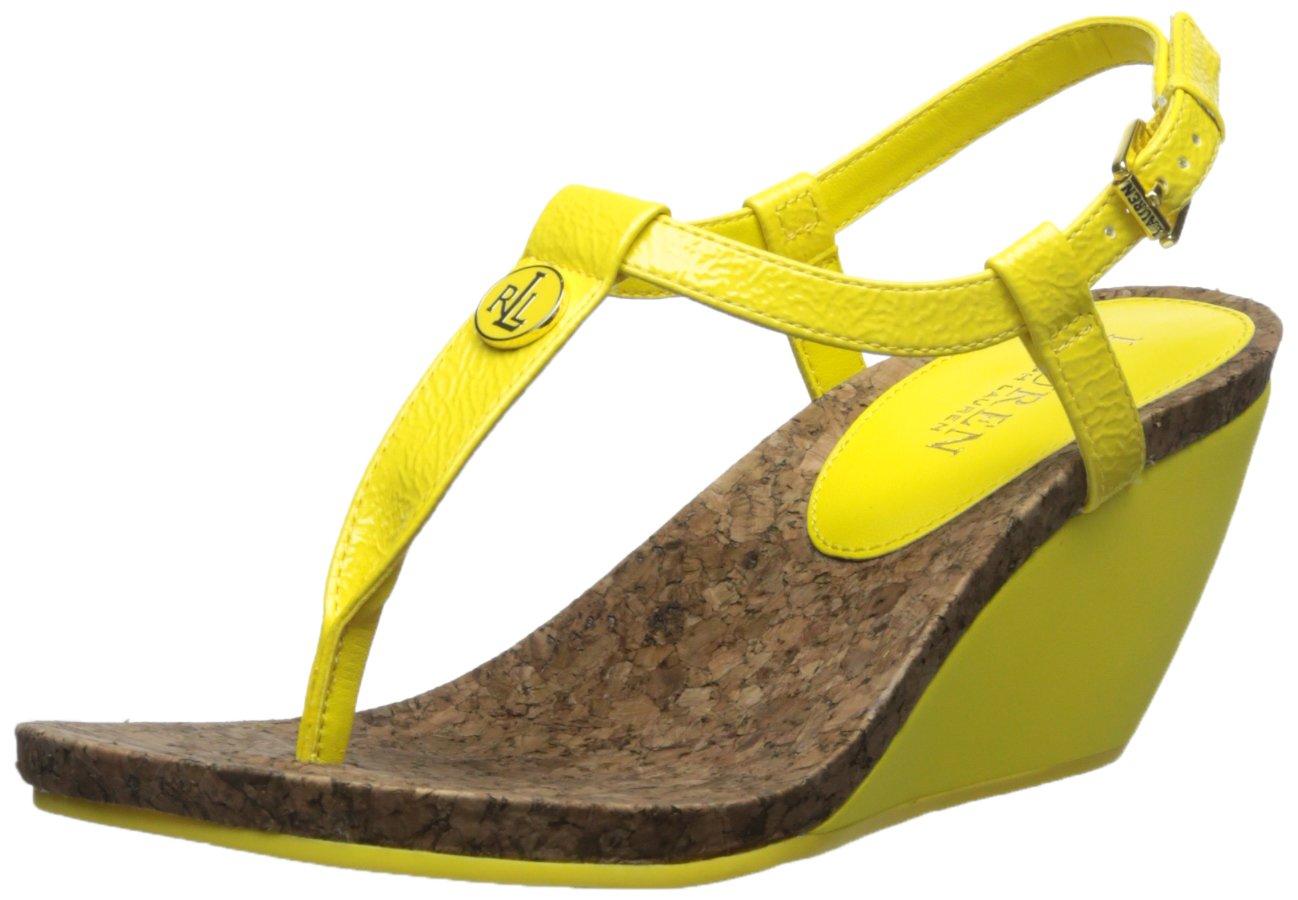 a4b0fc9a5061 Galleon - Lauren Ralph Lauren Women s Reeta Wedge Sandal