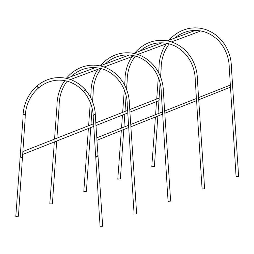 園芸支柱 支柱(新型)パイプ支柱 標準パイプ支柱セット 1組 B07SQZCZ29