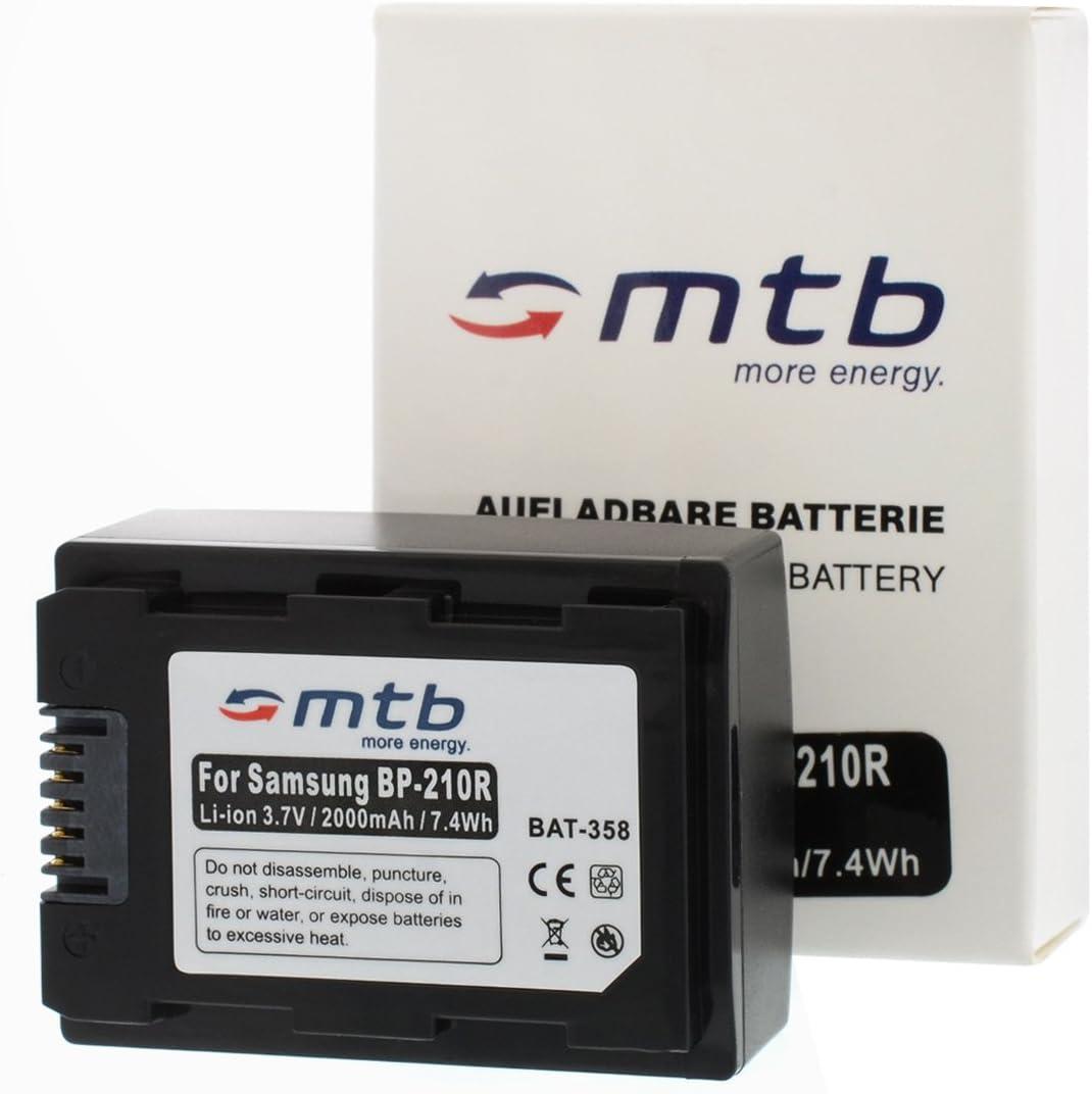 Ladeger/ät Akku f/ür Samsung IA-BP210R // HMX-H300 400 // SMX-F50 KFZ, Netz F70