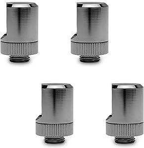 EKWB EK-Torque 90° Angled Fitting, Black Nickel, 4-Pack