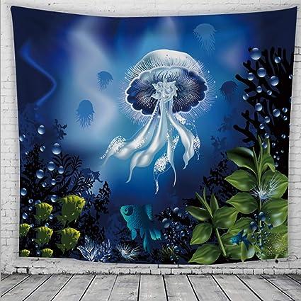 JXM TT-Tapices Fondo de Tela Decorativa Tapiz de Medusas Tapiz Dormitorio Sala de Estar