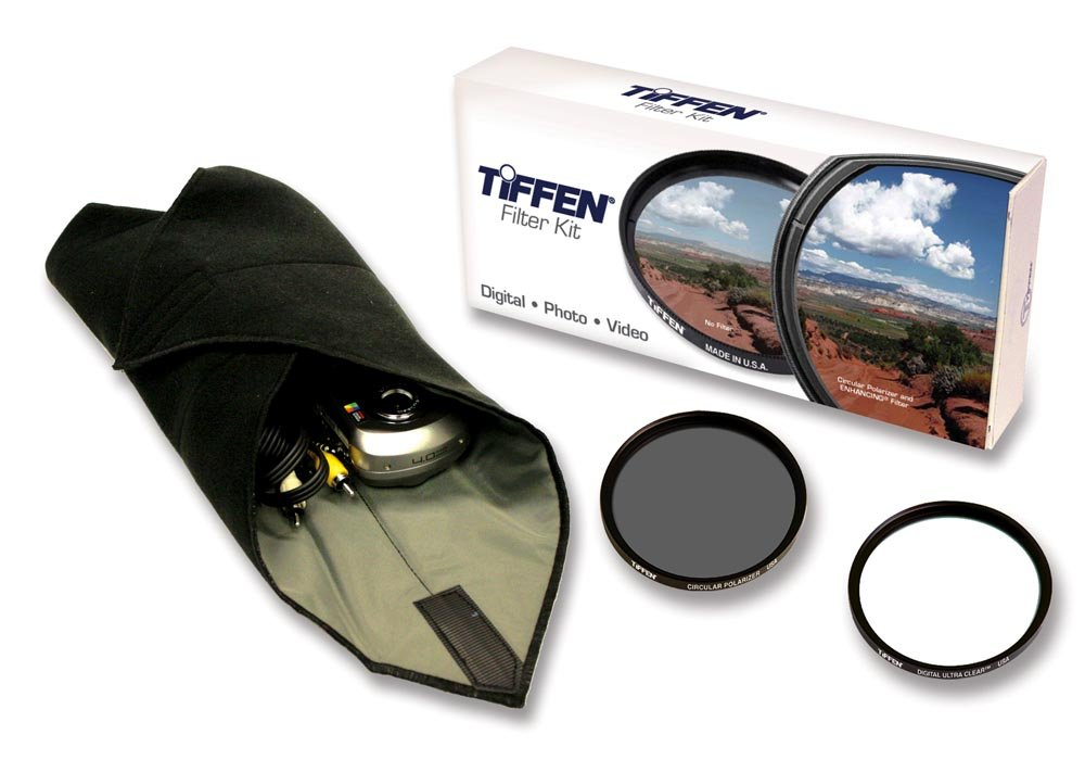 Tiffen 77mm Lens Kit includes Digital Ultra Clear Filter, plus Circular Polarizer Filter and Accessory Wrap