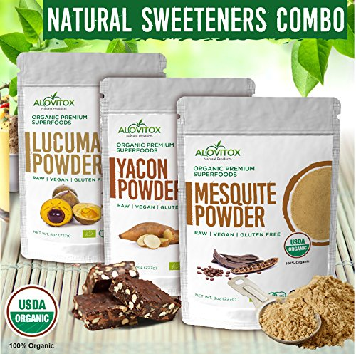Lucuma, Yacon and Mesquite Powder - Combo Box, 3 Pack. by Alovitox (Image #9)'