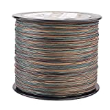 HERCULES Super Cast 1000M 1094 Yards Braided Fishing Line 100 LB Test for Saltwater Freshwater PE Braid Fish Lines Superline 8 Strands - Camo, 100LB (45.4KG), 0.55MM