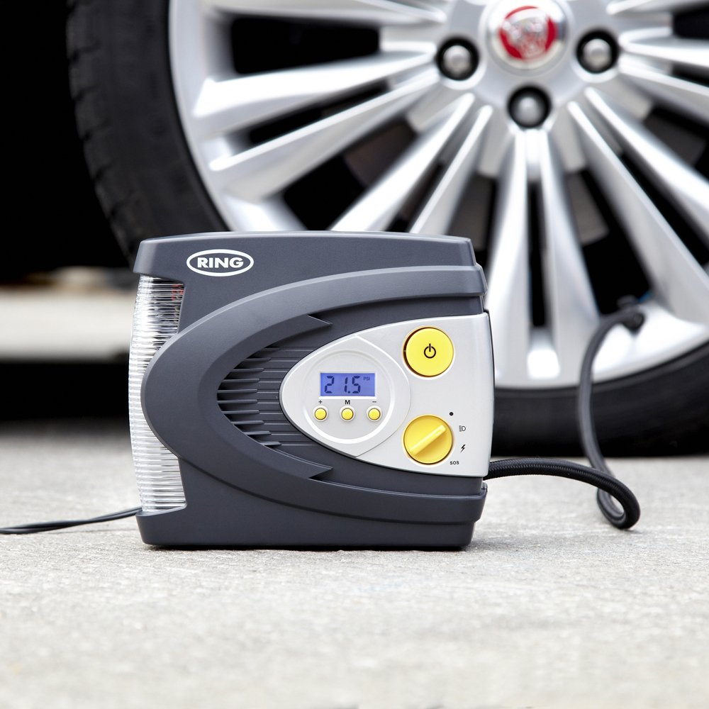 Amazon.com: Ring RAC630 12V Automatic Digital Compressor with LED Work and Safety Light, Inflates Fully deflated car tire in Under 3 Minutes: Automotive