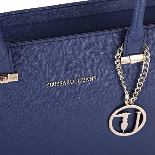 Trussardi Borsa Shopping Donna 75B000181Y090122U290 Poliestere Blu