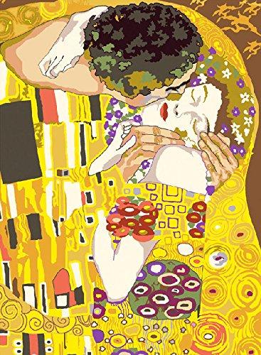 Seg de Paris arazzo/Needlepoint kit di g. Klimt–The kiss (le Baiser) Atlascraft