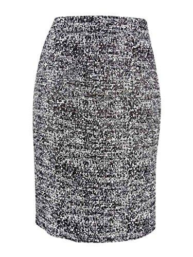 Tommy Hilfiger Tweed Women's Straight Pencil Skirt Black ()