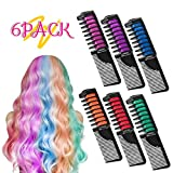 Hair Chalk, Temporary Hair Chalk Comb Non-toxic Washable Hair Dye with Shawl for Kids Party and Cosplay, Hair Chalk Pens Works on All Hair Colors by NICEAUTY