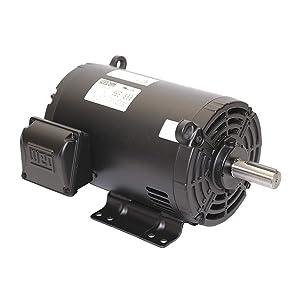 WEG 00218OT3E145T-S W01 ODP NEMA Premium Efficiency Severe Duty and General Purpose Electric Motor, 2 HP, 3-Phase, 1730 rpm, 208-230/460 V, 60 Hz, Frame 143/5T