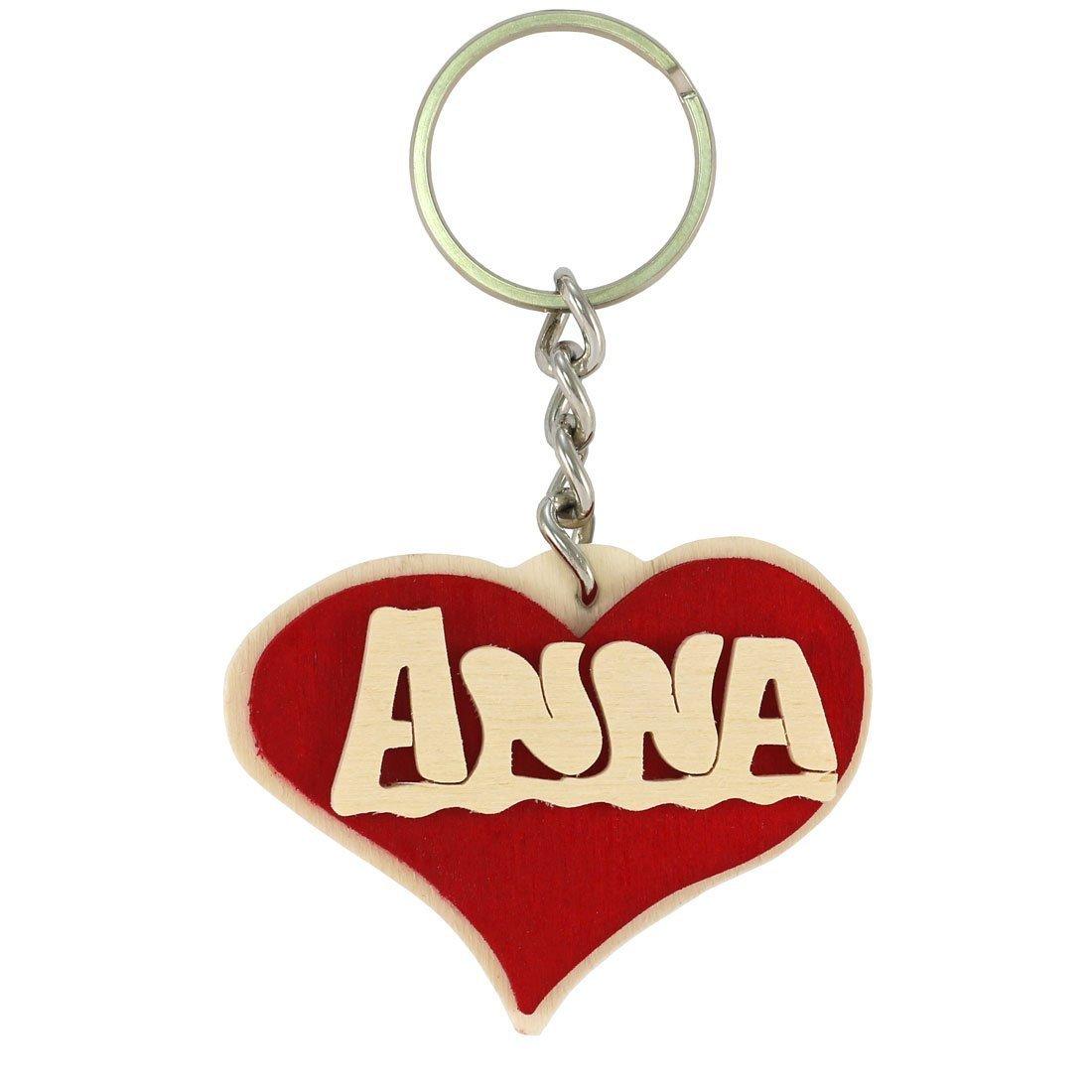 Portachiavi personalizzato in legno, fatto a mano con nome o data a forma di cuore, da indossare o per fare un regalo originale