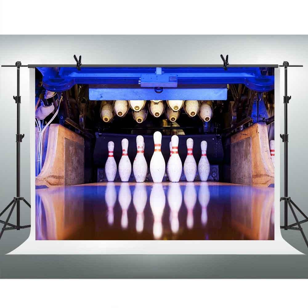 FHzON 10 x 7ftハイエンドスポーツバックドロップボーリングArena写真背景Youtubeテーマパーティー写真ブース小道具の背景幕lxfh178   B07FNH5Z1V