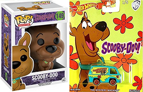 Scooby-Doo! Funko Figure Mystery Machine Van 2017 Hot Wheels Pop Culture Set + Vinyl Pop! Animation Figure Pack #149
