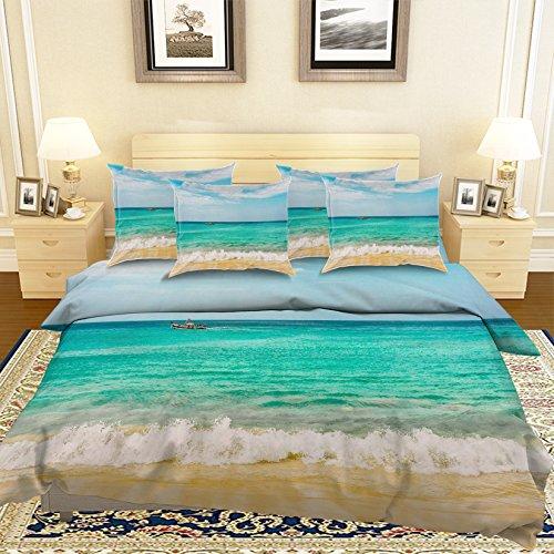 Cruise Ships Peel (3D Cruise Ship Seascape Beach 322 Bedding Pillowcases Quilt Duvet Cover Set Single Queen King | 3D Photo Bedding , AJ WALLPAPER US Summer (King))