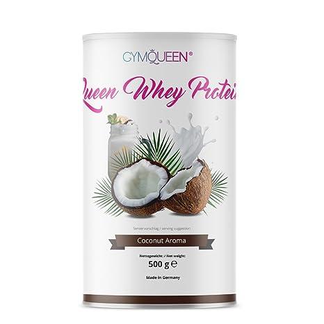 GymQueen Proteína de Whey, Proteína de suero de leche concentrada e aislada, Producto Alemán