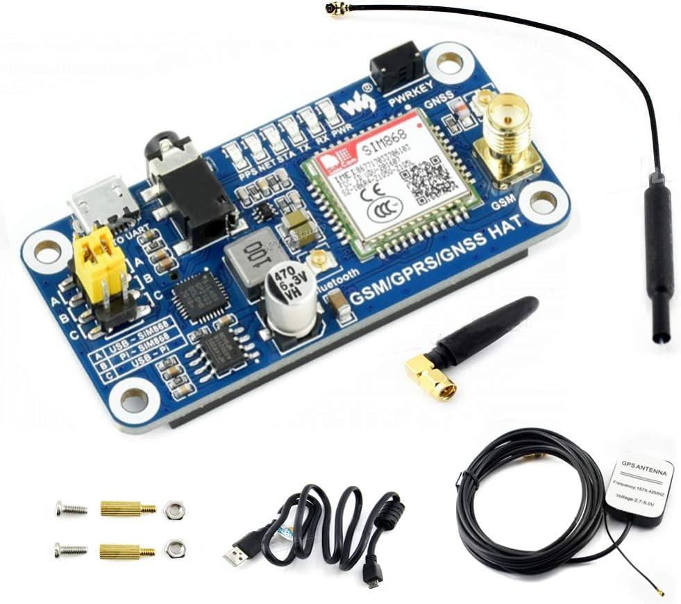 Lotus RPI GSM//GPRS//Bluetooth HAT for Raspberry Pi 2B//3B//3B+//Zero//Zero W Connect to Wireless Internet Transfer Data via Bluetooth. Expansion Board GPS Module SIM868 It Allows Pi to Send Messages