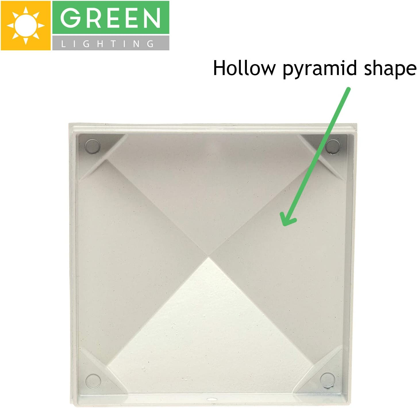 White, 4 Pack GreenLighting 6 in x 6 in Aluminum Pyramid Post Cap Cover for Nominal Wood Posts