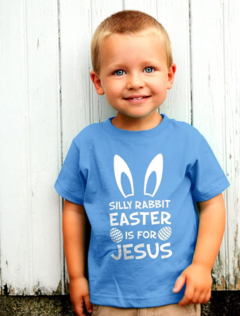 Silly Rabbit Easter is for Jesus Boys Short-Sleeved Shirts