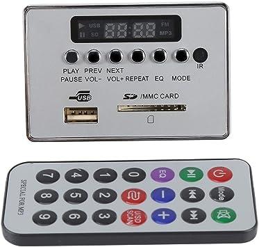 DC12V Tarjeta de Decodificador Bluetooth Audio Módulo de Decodificador de Audio Módulo de Decoder con Control Remoto USB SD TF FM Radio Sin Pérdida ...
