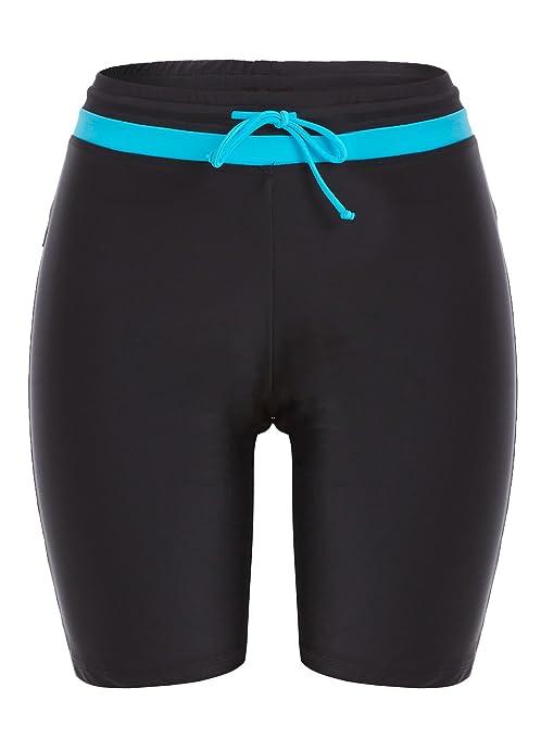 Avellara Damen Badeshorts Badehose Damen Lang Schwimmshorts Schwimmhose Wassersport Boardshorts UV Schutz
