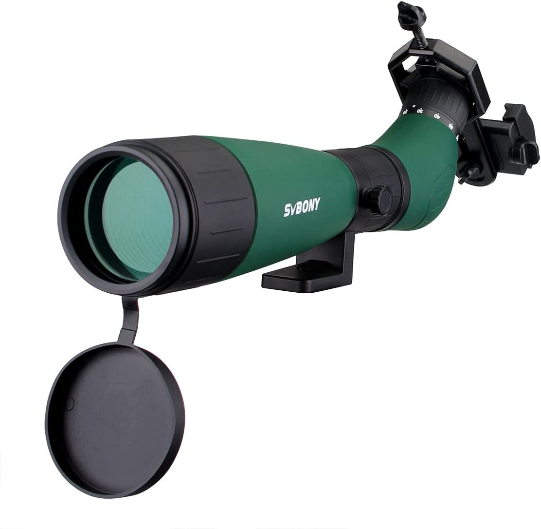 SVBONY SV18 Spotting Scope 20-60x60mm Extra Large Focus Wheel Bird Scope with Carrying Case for Target Shooting Archery Bird Watching Hunting Hiking Camping
