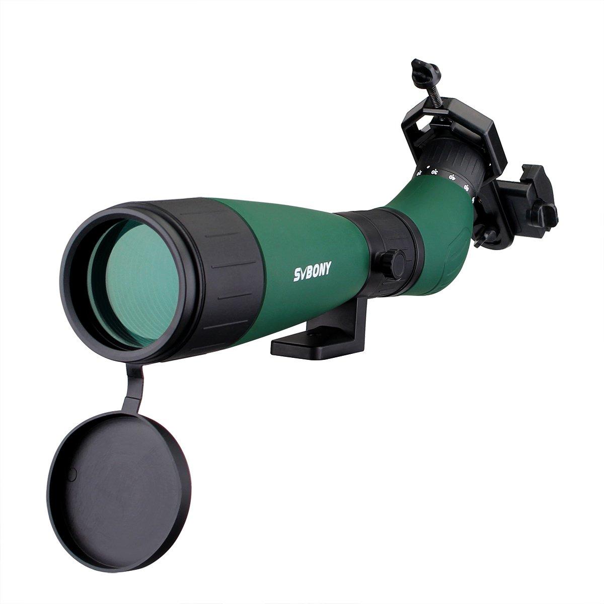 Svbony SV18 Cannocchiale 20-60x60mm Prisma BK-7 Completamente Rivestita Adatto per Shooting Hunting Birdwatching con Adattatore Universale per Smartph EUF9327G-W2546A