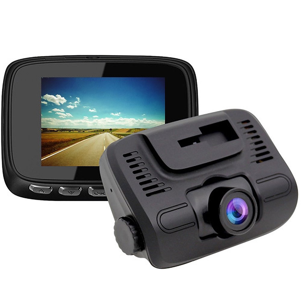 E-ACE Dash Cam 2'' IPS Screen 1080P FHD Car Video Recorder 140 Degree Wide Angle Lens Discreet Design Dashboard Camera with G-Sensor, Loop Recording, Parking Monitor,Motion Detection