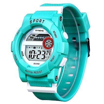 Digital deportes relojes niños niños estudiante impermeable de pantalla  electrónica LED al aire libre tiempo Militar 0cb0fb123100