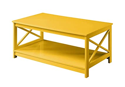 Admirable Convenience Concepts Oxford Coffee Table Yellow Caraccident5 Cool Chair Designs And Ideas Caraccident5Info