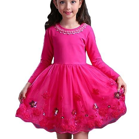 Mangas Largas Vestidos De Princesa De Boda Damas Para Niñas
