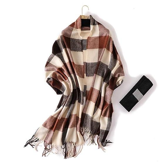 AFBLR Col écharpe châle Foulard imitation cachemire classique britannique à carreaux  chauds grands châles hommes et femmes automne et hiver foulards, ... 4e399a2ca0f