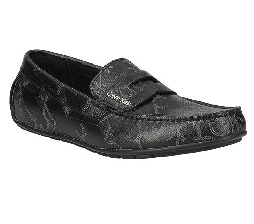 Calvin Klein Mocasines de Otra Piel Hombre, Negro (Negro), 42 EU: Amazon.es: Zapatos y complementos