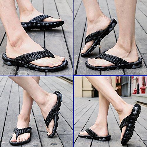 MeiPing Chanclas de Playa Para Hombres Sandalias de Playa Calzado de Agua Ligero Comfort Trail Outdoor Water Shoes Gris01