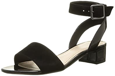 4bde33598 Clarks Womens Smart Clarks Sharna Balcony Suede Sandals In Black  Combination Wide Fit Size 9