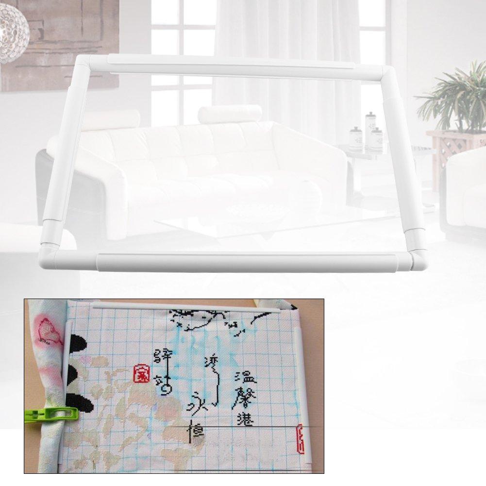 marco de costura de aros de coser de rect/ángulo de pl/ástico para coser bricolaje Aro de bordado cuadrado 20.3 * 20.3cm