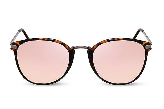 8cdc402033c20c Cheapass Sunglasses Round Mirrored Pink Gold Brown Black UV400 Festival  Shades Men Women  Amazon.co.uk  Clothing